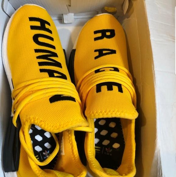 best service 34e57 a255f Human race yellow shoes